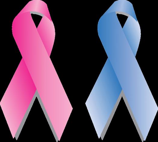 imagen de los lazos simbólicos del cáncer para hablar de cómo la lactancia maternal previene el cáncer de mamá