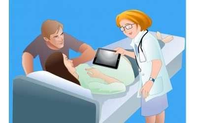 La primera ecografía del embrión, en realidad virtual