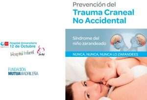 cartel de la campaña prevencion zarandeo bebé 12 de octubre y mutua