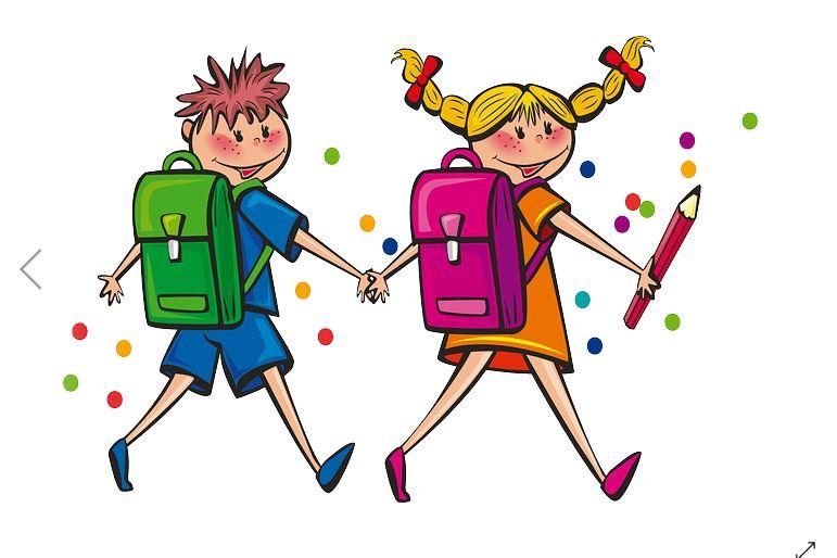 dibujo de niños con mochila cole