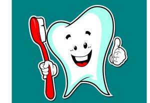 diente con cepillo