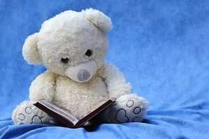 osito de peluche con un cuento lectura libros