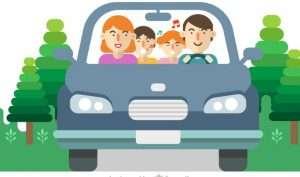 familia viajar viaje coche
