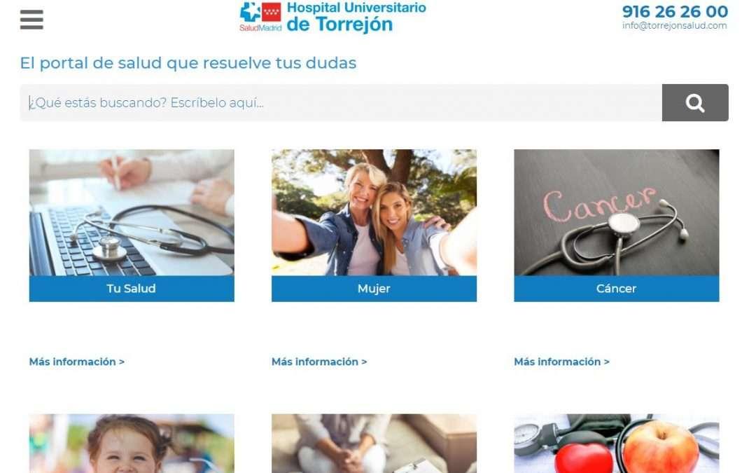 web información sanitaria torrejón