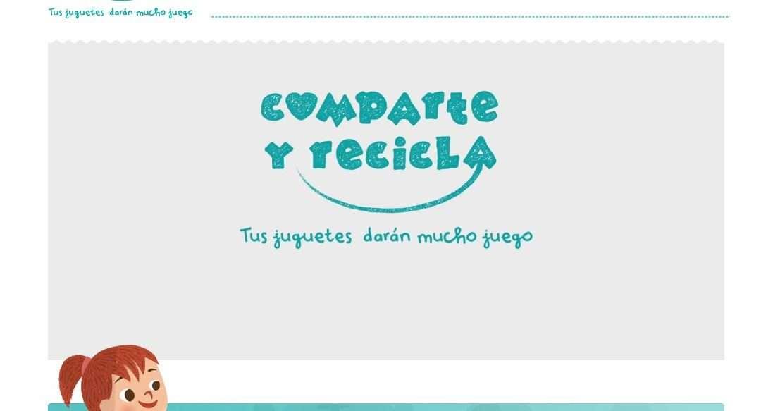 campaña de recogida de juguetes comparte y recicla