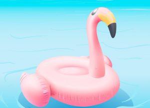 hinchable pelícano piscina verano