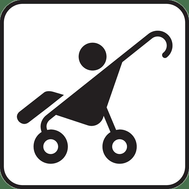 dibujo de una silla de paseo