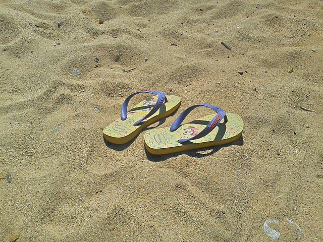 chanclas playa verano