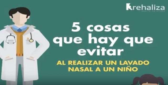 imagen del video 5 cosas que hay que evitar al hacer un lavado nasal a un niño para hablar de cómo quitar mocos al bebe