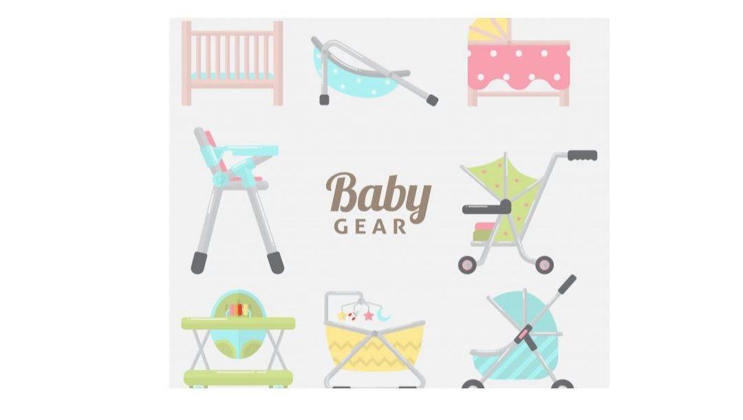 dibujo con accesorios del bebé para hablar de que necesita el bebé