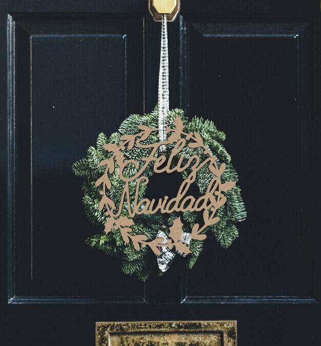 Adorno personalizado con nombre navidad