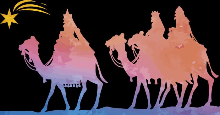 Vinilo navidad reyes magos