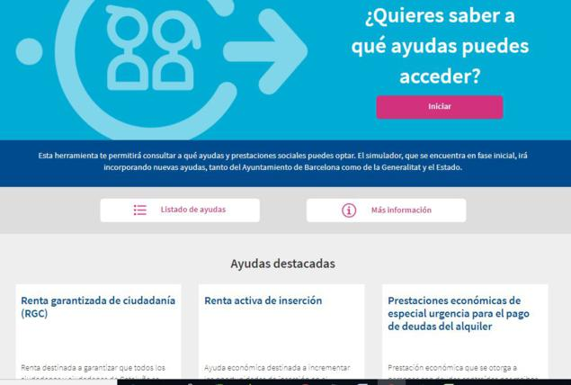 herramienta ayudas económicas en Barcelona