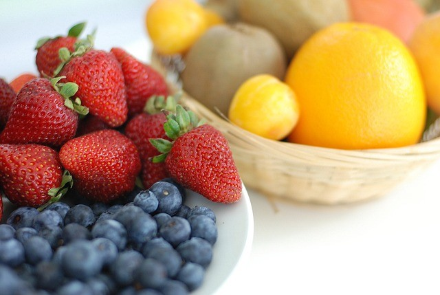 fruta fresa naranja comida sana alergias