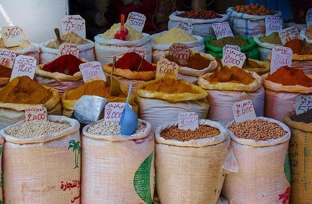 alimentos a granel comida garbanzos judias
