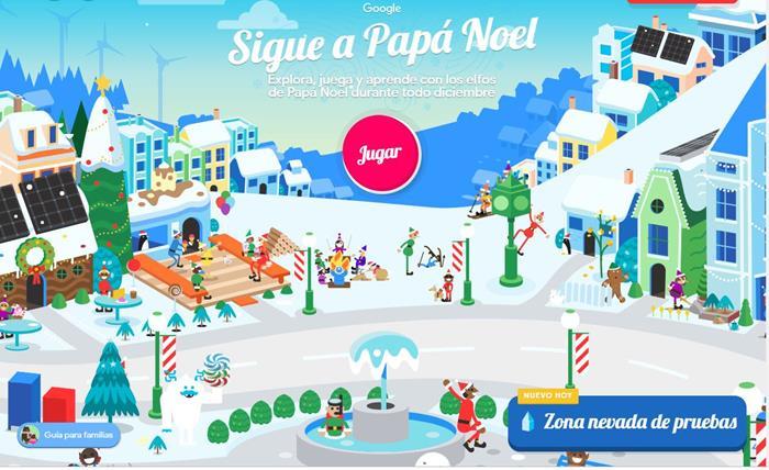 la aldea de papa noel google