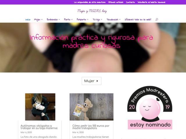 mujerymadrehoy nominada premios madresfera 2019