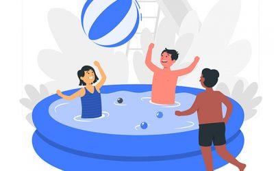 Precauciones antes de montar una piscina portátil en la terraza o el patio