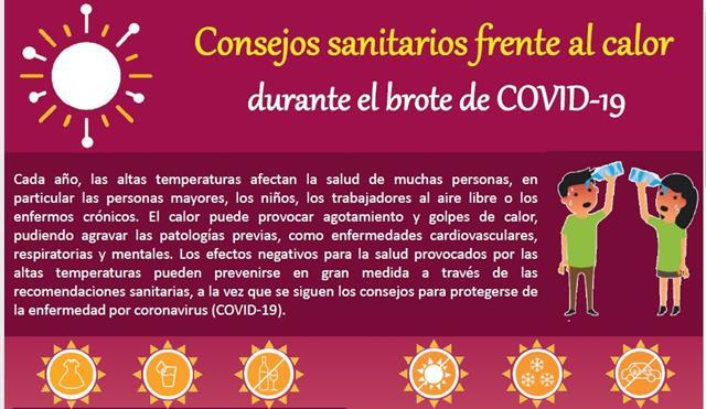 protegerse del calor covid-19