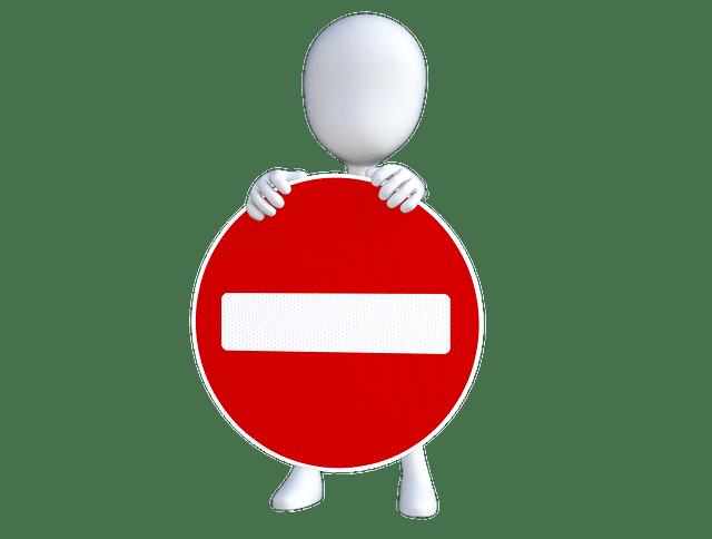 señal de prohibido prohibicion