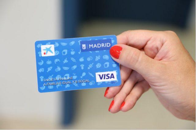 tarjeta familias Madrid