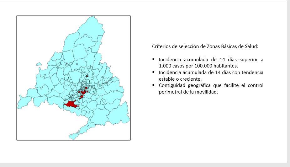 Madrid cierra 37 zonas sanitarias