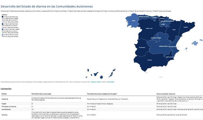 mapa interactivo estado alarma