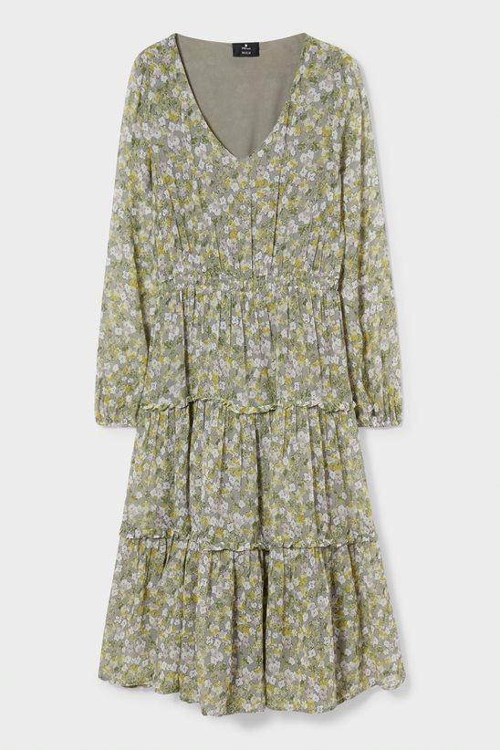 vestido cya material reciclado